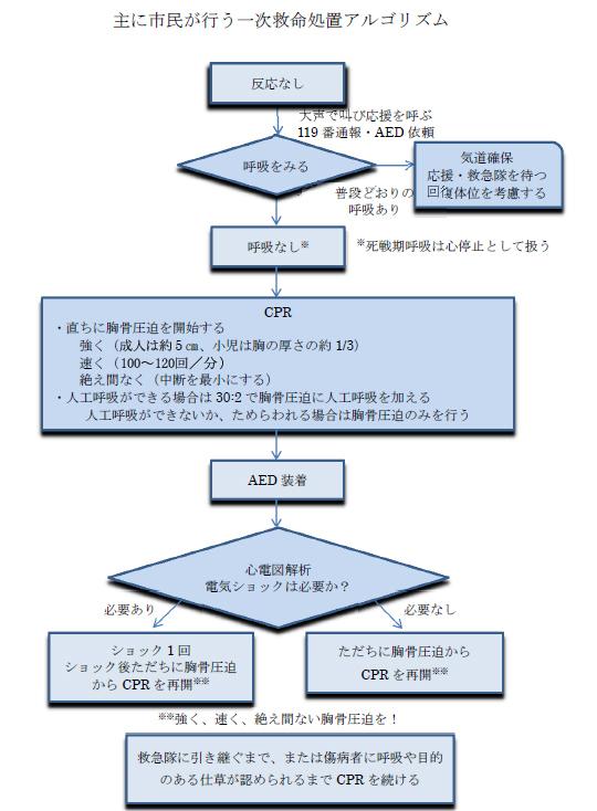 救命処置の手順(心肺蘇生法とAEDの使用の手順) | 春日・大野城 ...